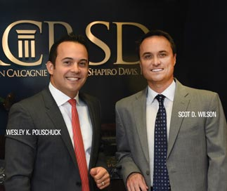 2015 Southern California Rising Star Lawyers Scot D. Wilson and Wesley K. Polischuk